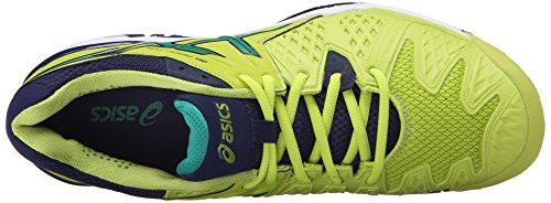 Asics Mens Gel-resolution 6 Scarpe Da Tennis Lime / Pine / Indigo Blue