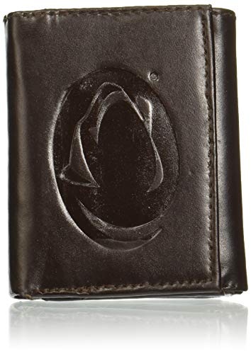 NCAA Penn State Nittany Lions Tri-Fold Leather Wallet, Brown