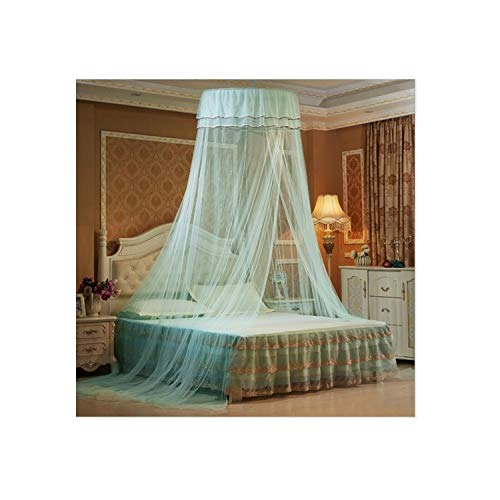 Voic-A Large Size Mosquito Net for Double Bed Hung Dome Mosquito Nets Bed Canopy for Adults Mosquito Netting,Shulan ()