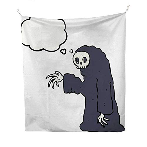 25 Home Decor Wall Tapestries Cartoon Spooky Halloween Costume with Thought bubble3 BTS Tapestries 54W x 84L INCH