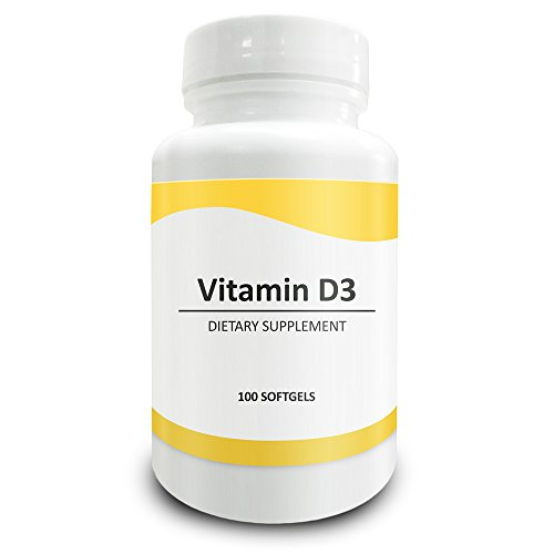 Pure Science Vitamin D3 5000 IU – Strengthens Bones & Teeth, Improves Muscle Function, Supports Cardiovascular Health & Metabolism – 100 Gelatin Softgels