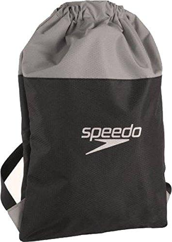 Speedo Pool Equipment Storage Water Resistant Backpack Pool Bag Grey-black by Sportsgear US