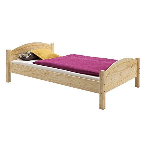 Holzbett Einzelbett Bett FLIMS Kiefer massiv natur100 x 200 cm (B x L)