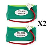 (2) Pack ATandT BT166342 Replacement Cordless Battery,Replaces: various American Telecom Series, Office Central