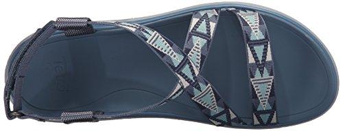 cinturini Terra con blu alla float Mvbl da Sandali Livia donna Blu caviglia Vintage Teva mosaico fIqXpwxdI