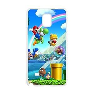 Super Mario Bros Samsung Galaxy Note 4 Cell Phone Case White 8You311387