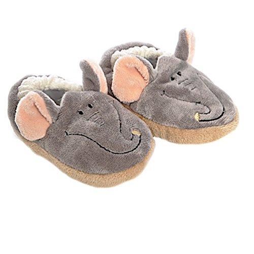 Babysutten Krabbelschuhe, Elefant, grau, ab ca. 6 Monaten