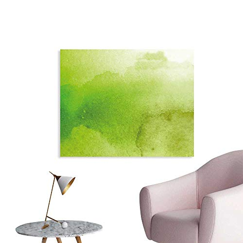 J Chief Sky Sage Custom Prints Poster Watercolors in Green Tones Abstract Blurred Dreamy Background Grungy Look Mural Wallpaper W36 xL32