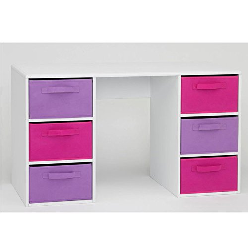 4d concepts girlu0027s student desk white