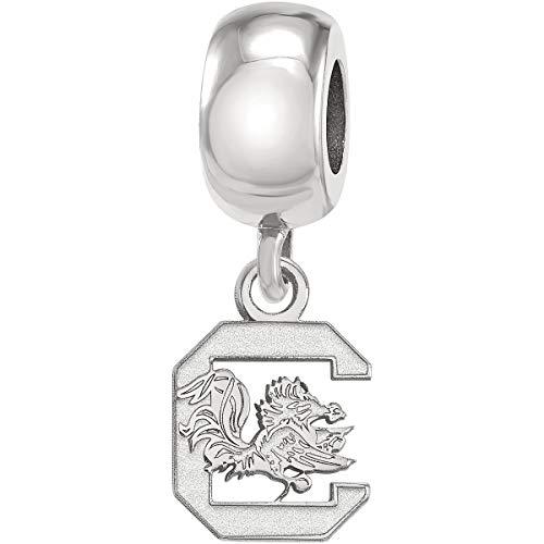 LogoArt Logo Art Sterling Silver South Carolina Gamecocks XS Dangle Bead Charm