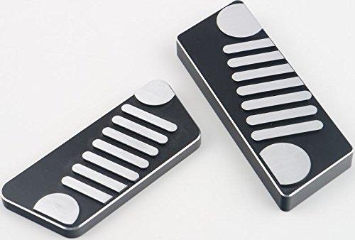 Parti Decorative Per Gas Pedale Freno Alluminio Pedale Automatico Pedale Del Freno Gas Pedale Per Serie Nero 1Pcs