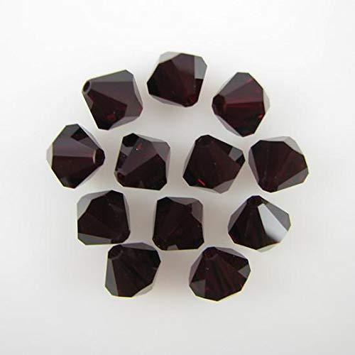 12 Garnet Bicone Swarovski Crystal Beads 5301 3mm New
