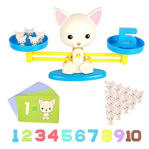 Pink-Puppy Animal Toys Puppy Weighing Scale Montessori Educational STEM Math Counting Games /& Balance Measuring Fun Gift for Girls /& Boys Kids Age 3-5-6 Counting Toys