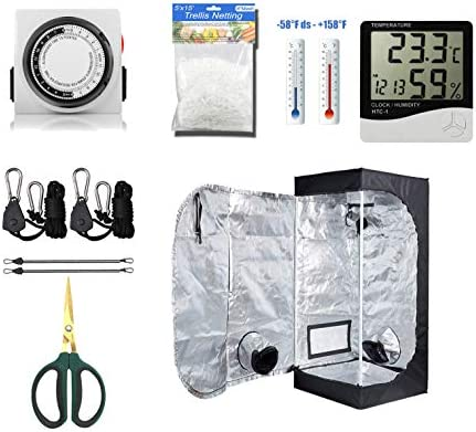 cdmall Grow Tent Room Complete Kit 16 x16 x48 Kit Hydroponic Growing System Indoor Plants Growing Dark Room Non Toxic Hut Hydroponics Growing Setup Accessories 16 x16 x48 Kit
