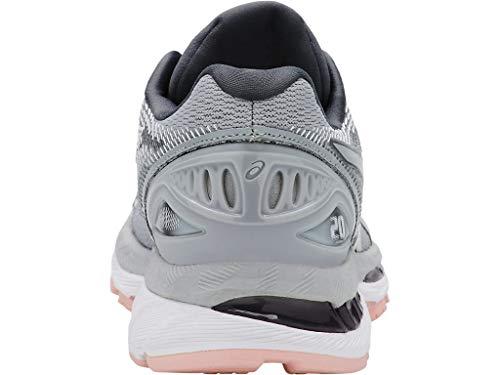 ASICS Women's Gel-Nimbus 20 Running Shoe, mid grey/mid grey/seashell pink, 5 Medium US by ASICS (Image #4)