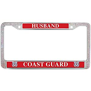 Amazon Com Diamond License Plate Frame Husband Coast