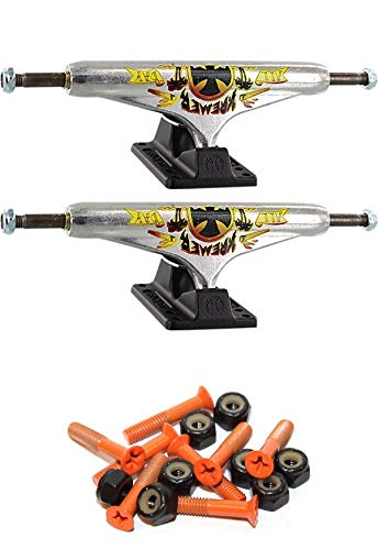Independent Stage 11-159mm 中空 オールデイ 標準 6.14インチ スケートボード トラック 1インチ オレンジ取り付け金具付き   B07GXJZWCV