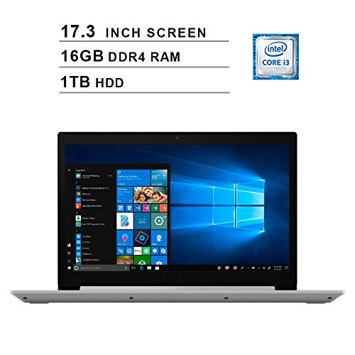 Lenovo 2019 Newest L340-17 17.3 Inch HD Laptop (Ryzen 5 3500U up to 3.70 GHz, 16GB DDR4 RAM, 1TB HDD, Bluetooth, DVD, WiFi, Windows 10) (Gray)