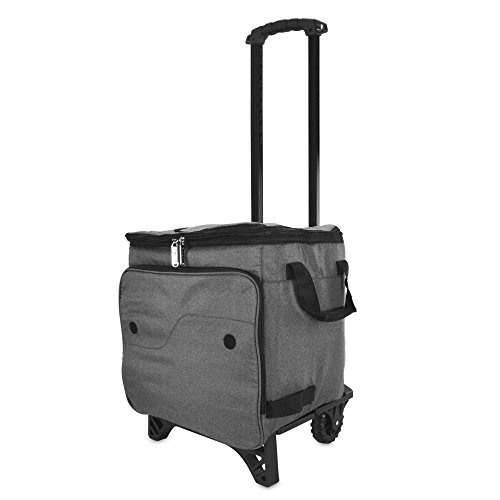 (DALIX Rolling Cooler Thermal Insulated Trolley Bag Sports Leak Proof in Gray )