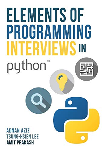 Pdf Computers Elements of Programming Interviews in Python: The Insiders' Guide