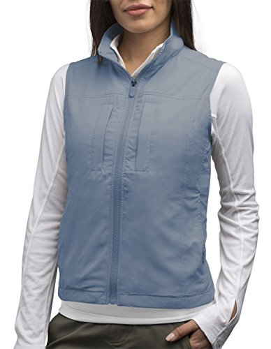 SCOTTeVEST Women's Featherweight Vest - 14 Pockets - Travel Clothing CDB - Drone Sunglasses
