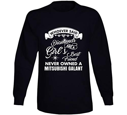 Mitsubishi Galant Diamonds Girls Best Friend Enthusiast Car Lover Long Sleeve T Shirt M Black