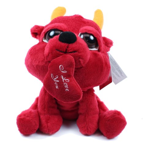 Russ Berrie Devil Peepers with Heart 8 Inch Plush