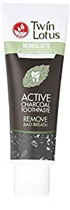 Twin Lotus Active Charcoal Toothpaste Herbaliste Triple Action 100 G X 1 Tube