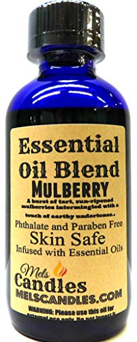 (Mulberry - 4 Oz / 118ml Blue Glass Bottle of Essential Oil Blend/Premium Grade A Fragrance Oil, Skin Safe Oil, Use in Candles, Soap, Lotions, Etc)