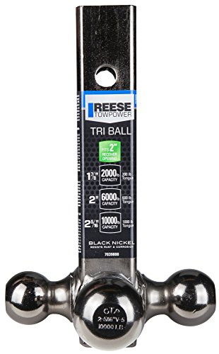 "042899703983 - Reese Towpower 7039800 2"" Black Nickel Triple Ball Mount carousel main 2"