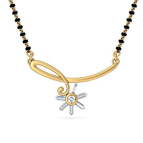 Or jaune 18K 0,23carat au total White-diamond (IJ | SI) Mangalsutra