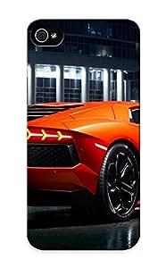 Ednahailey Cute Tpu Ggvcba-1682-qcyhodr Lamborghini Exotic Supercar Vehicles Cars Orange Color Contrast Wet Roads Architecture Buildings Structures Wheels Case Cover Design For Iphone 5/5s