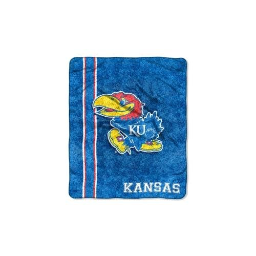 The Northwest Company Officially Licensed NCAA Kansas Jayhawks Jersey Sherpa on Sherpa Throw Blanket, 50