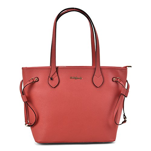 SALLY YOUNG Fashion Women High Quality PU Leather Tote Bag With Metal Detail Red
