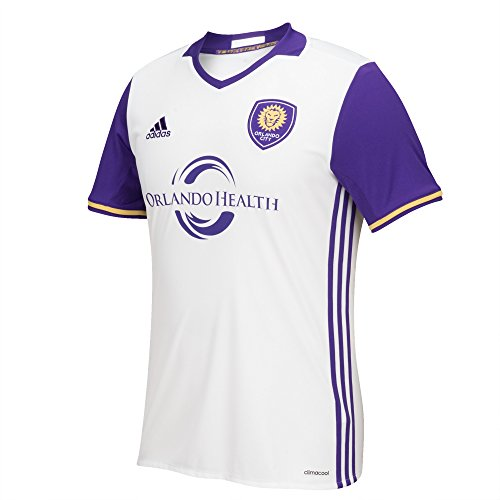 fan products of MLS Orlando City SC Men's Replica Short Sleeve Team Jersey, White, Large