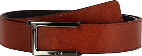 Tumi Leather Belt - Tumi Men's T Buckle Leather Reversible Belt Gunmetal/Reversible 36