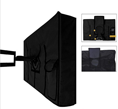 Outdoor TV Cover 40'',41'',42'',43'' - Waterproof TV Enclosure Offers 360-Degree Coverage, Accommodates Single Mounts and Stands - Weatherproof, Dust-Proof, UV Protection - Heavy-Duty, Premium Quality by iiHome