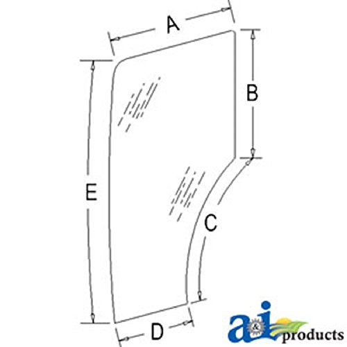 A-44910453 Ford New Holland Parts Glass Door; Lh TN55D ; TN55S; TN55S ; TN60DA ; TN60SA ; TN60VA ;