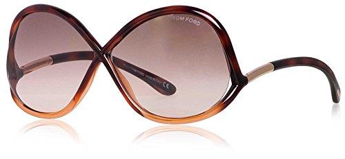 Tom Ford Women's FT0372 Designer Sunglasses, Dark Havana by Tom Ford