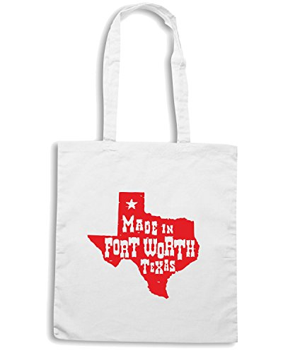 T-Shirtshock - Bolsa para la compra TSTEM0058 made in fort worth texas Blanco