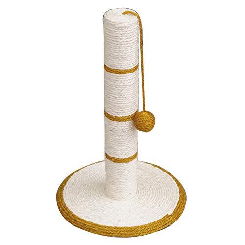 🥇 Arquivet 8435117843363 – Rascador Blanco/Dorado con Bola 30 * 30 * 46 cm