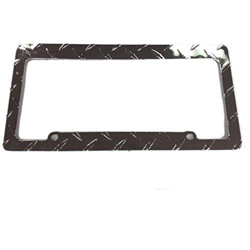 U.A.A. INC. 1PC LP-120C Piece Criss Cross Design Metal Standard Size License Plate Frame Universal