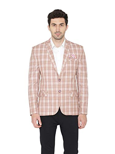 WINTAGE Men's Polyester Cotton Checkered Smart Casual Office Blazer : 5 Colors