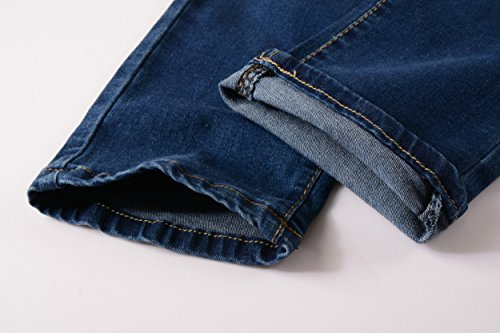 Boy's Fashion Skinny Fit Ripped Distressed Stretch Slim Denim Jeans with Holes 14 by DEITP (Image #6)