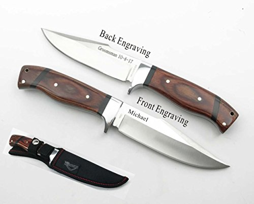 "Set of one Personalized ,Engraved , Custom Hunting Knife 9.5"" Holidays, Father's day Gift"