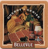 Belle-Vue Brewery - Cherry Cerise - Paperboard Coasters - Sleeve of - Bellevue Square Store
