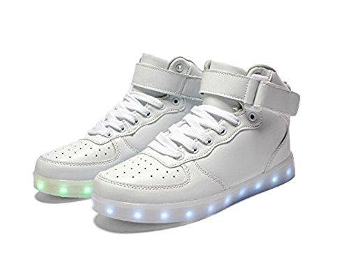 (Present:small towel)JUNGLEST Womens USB Charging LED Sport Shoes Flashing Sneake White uqs4BpUu