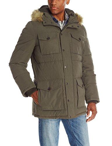 Tommy Hilfiger Coat, Twill, Full-Length, Men's Micro, Hooded Parka