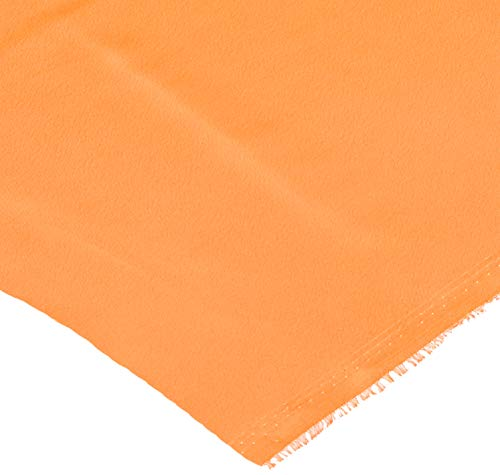 Shannon Fabrics Silky Satin Charmeuse Solid Dark Orange Fabric by The Yard, ()