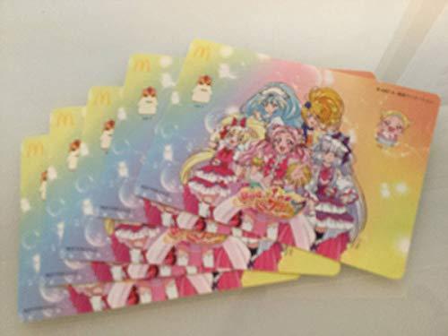 HUGっとプリキュア 公式 キャラクターシール ステッカー おもちゃ カード マルイ ハッピーセット 5枚セット